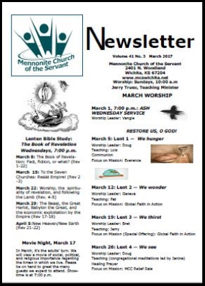 March 2017 Newsletter